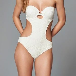 Abercrombie Lace Cheeky One-Piece Swimsuit